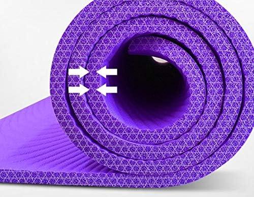 Eco friendly 特大のダブルヨガマット肥厚の15ミリメートルは、130センチメートル長い200センチメートルの女の子の子供たちが練習ノンスリップフィットネスマットホーム(ギフト収納袋を)踊りを広げます exercise (色 : Purple)