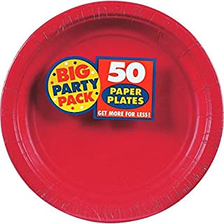 Apple Red Dinner Paper Plates Big Party Pack, 50 Ct. (B001QF7LRI) | Amazon price tracker / tracking, Amazon price history charts, Amazon price watches, Amazon price drop alerts