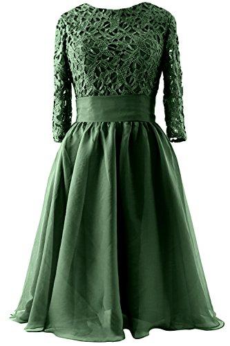 Evening of Mother Sleeve MACloth Bride Formal Dress Gown Dunkelgrun 4 Women 3 Short Lace fZwPFwpq