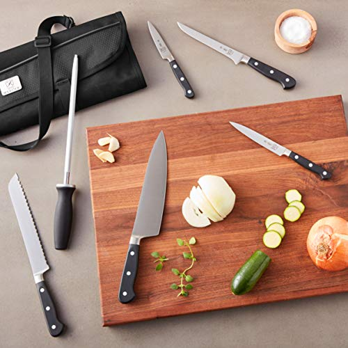 Mercer Culinary Genesis 7-Piece Forged Knife Roll Set - http://coolthings.us