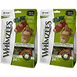 (2 Pack) Whimzees Natural Grain Free Dental Dog Treats, Alligator