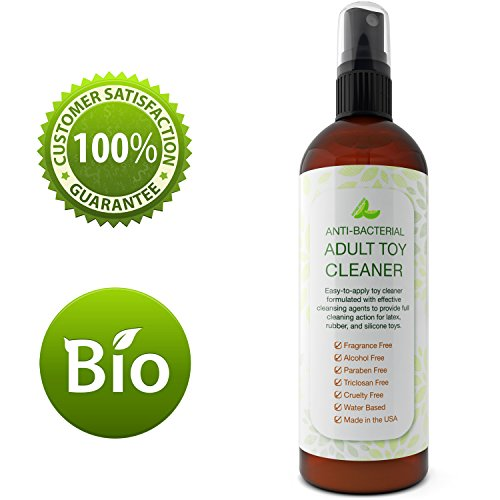 Toy Disinfectant Spray for Kids Teens Women and Men - Antibacterial Toy Cleaner - Water Based Hypoallergenic Cleaning Supplies for Novelty Toys - No Added Fragrance - Alcohol Free - Triclosan Free