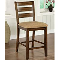 247SHOPATHOME Idf-3111PCX2 Dining-Chairs, Oak