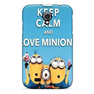 Galaxy S4 Case Cover - Slim Fit Tpu Protector Shock Absorbent Case (keep Calm And Love Minions)