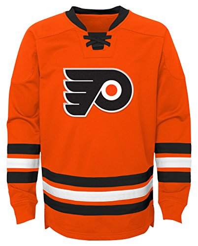 6b2fb0829df47 Outerstuff NHL Youth Boy's Classic Hockey Crew, Varsity Orange, Large(7)