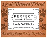 Gifts For All By Rachel Olevia Pet Memorial Gift Remembrance Dog Cat Natural Wood Engraved 5×7 Landscape Picture Frame Wood Review