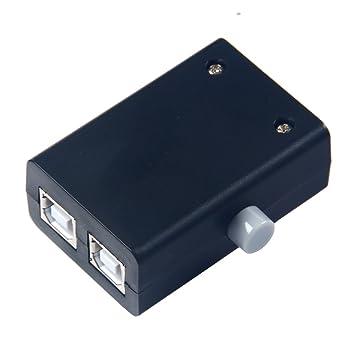 Caja toma para compartir puertos USB de Winwill, contiene dos puertos para ordenador, escáner e impresora