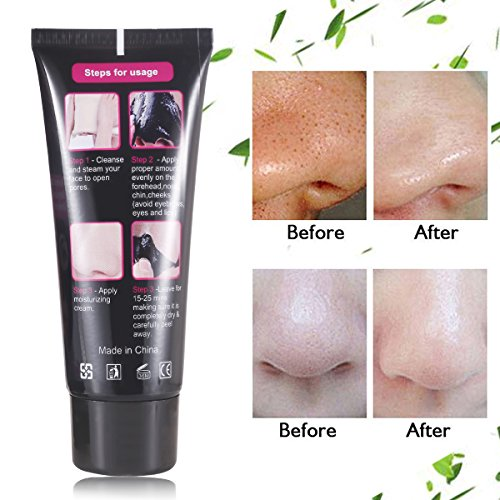 Blackhead Cleansing Remover Mask Bamboo Charcoal Blackhead: Charcoal Black Mask,Peel Off Mask,Blackhead Remover Mask
