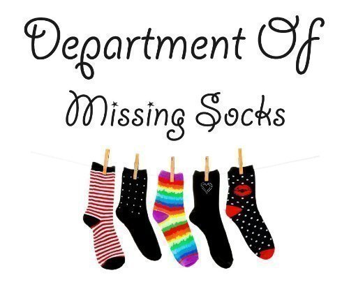 Department Of Missing Socks Wall Sticker Laundry Utility Room Odd Socks Novelty Gift Funny
