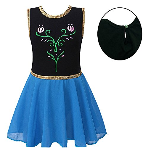 BAOHULU Toddlers Dancing Cosplay Tutu Ballet Leotard for Girls 3-12 Years B098_Black_8A ()