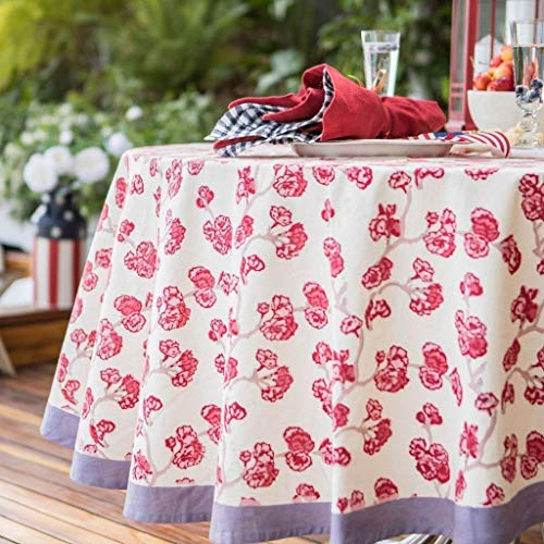 (Couleur Nature French Tablecloth - Cherry Blossom Cream and Blush - 59