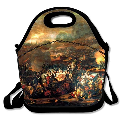 WYIOU Insulated Lunch Bag Artistic Battle of Leipzig Lunchbox Waterproof Cooler Warm Bags Reusable Tote Box