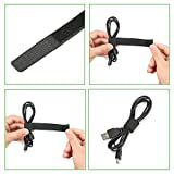 60PCS Reusable Cable Ties, Travel Wire & Cord