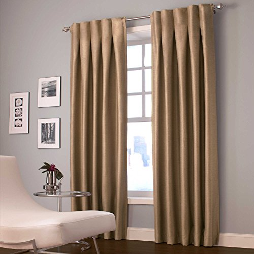 Designers' Select Maximus Inverted Pleat 95 Inch Window Curtain Panel in Latte - Inverted Pleat Curtains