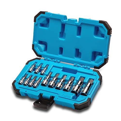 Capri Tools Hex Bit Socket Set, Metric, Advanced Series, 13-Piece ()