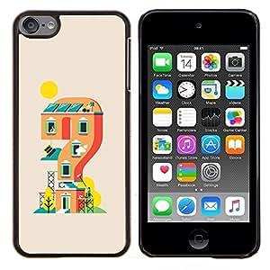 Casa de juegos- Metal de aluminio y de plástico duro Caja del teléfono - Negro - iPod Touch 6