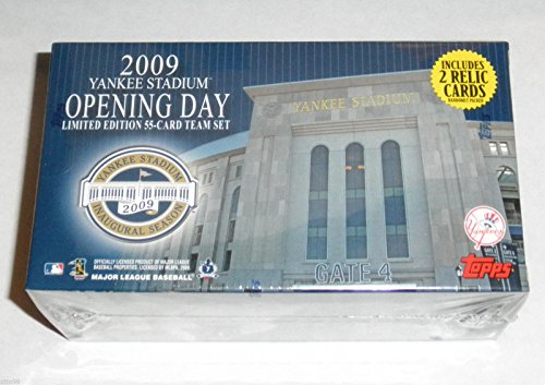 - TOPPS YANKEE STADIUM NY 2009 INAUGURAL OPENING DAY TEAM SET L/E w/2- RELIC CARDS