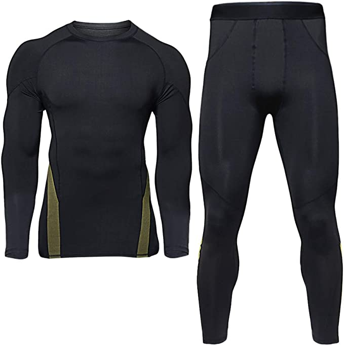 Mens Thermal Underwear Sets Base Layer Warm Top /& Bottom Compression Winter Ultra Soft Gear Sport Long Johns Set for Men