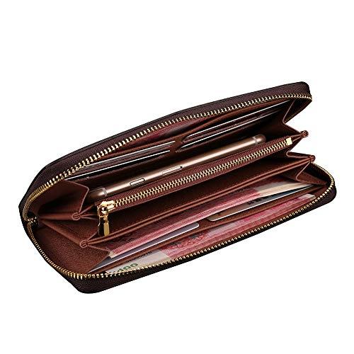 19 and Wallet Women Purse Fashion Multi 2018 Function Brown2 for Long Men qTSv4wAp