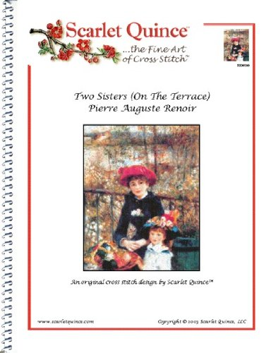 Scarlet Quince REN009 Two Sisters (On The Terrace) by Pierre Auguste Renoir Counted Cross Stitch Chart, Regular Size Symbols (The On Terrace Renoir)