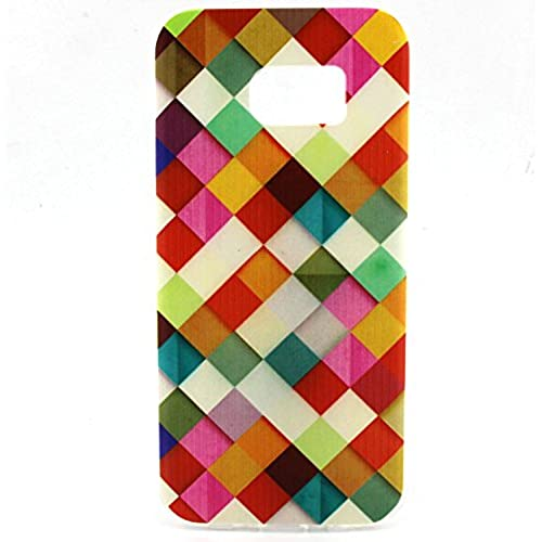 Galaxy S7 edge Case, Angelan Lightweigh [Shock Absorption] Ultra [Slim Fit] Flexible TPU Soft Skin Protective Case Cover for 5.5 inch Galaxy S7 edge (2016) (colorful) Sales