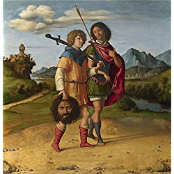 Oil Painting 'Giovanni Battista Cima Da Conegliano David And Jonathan ' Printing On Perfect Effect Canvas , 8 X 8 Inch / 20 X 21 Cm ,the Best Wall Art Decor And Home Artwork And Gifts Is This Cheap But High Quality Art Decorative Art Decorative Canvas