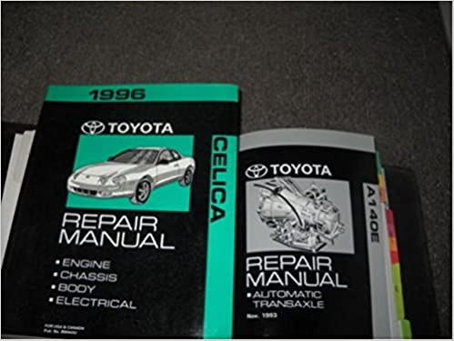 1996 toyota celica service repair shop manual set w electrical & transaxle  book paperback – 1996
