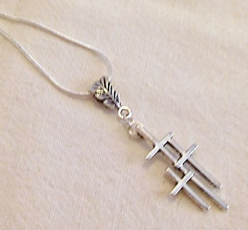 Best Seller Triple Cross Pendant Necklace 22 Inch Chain