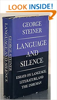 Book Language and Silence: Essays on Language, Literature, and the Inhuman