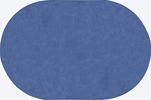 Joy Carpets 623QQ-01 Just Kidding Classroom Oval Rug44 Cobalt Blue – 6 x 9 in.