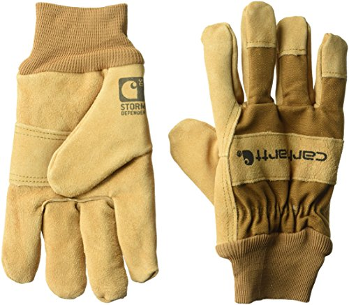 Carhartt Men's Wb Suede Leather Waterproof Breathable Work Glove, Brown, (Carhartt Leather Waterproof Glove)