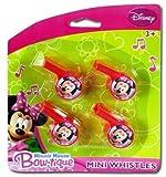 Disney Minnie Mouse 4Pk Mini Whistle (24 Pieces)