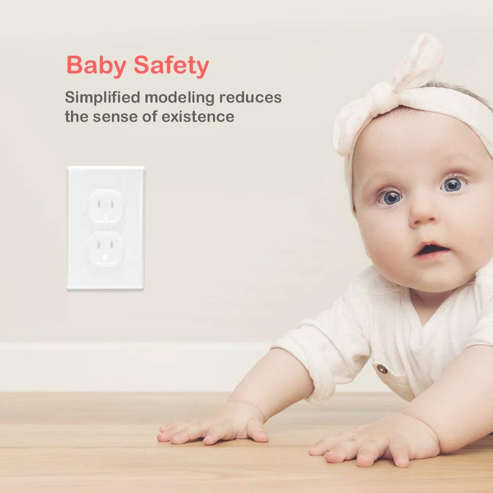 Lomire Baby Proofing Outlet Covers White 12 Pack Plug Guard Sockets Electric Socket Cover Keep Baby Safety Protectors Guards for Child Baby Home and School