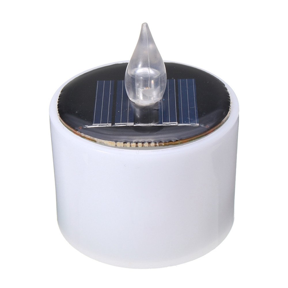 SRY-LED Solar Light Solar Powered Flashing Candle Tea Light Wedding Home Decor Christmas Energy Battery LED (Color : Warm White)