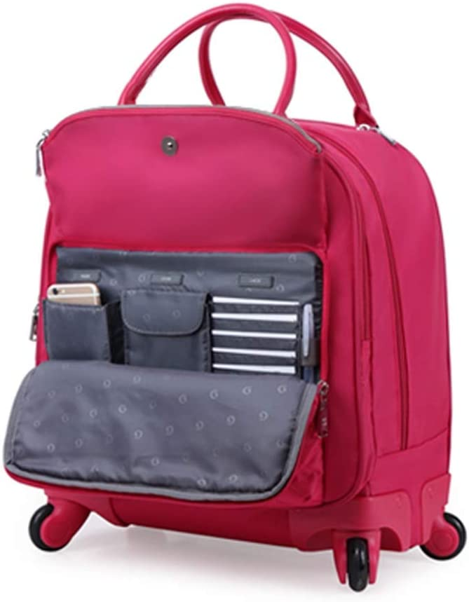 Travel Bags Trolley Case 18 Inches Boarding Universal Wheel Baggage Luggage Suitcases Carry On Hand Luggage Durable Hold Tingting Color : Red, Size : 382445