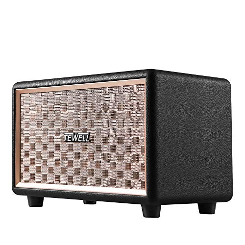 TEWELL Bluetooth Speaker with HD 24W Audio, Extended Bass and Treble, Knob for Volume Control, Toggle Switch and 3.5mm AUX Input