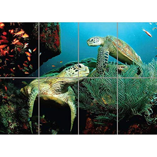 (Doppelganger33LTD SEA TURTLES DIVING SCUBA MARINE LIFE GIANT ART PRINT NEW POSTER PICTURE)