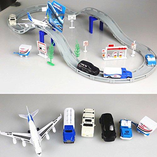 Pour Electrique Avion Aéroport Véhicules Playset Miniature Jouet Circuit Voiture De Ensemble Classique Enfants kZPXiuOT