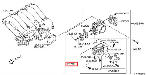 Infiniti 23781-4W002, Fuel Injection Idle Air Control Valve (2002 Infiniti Qx4 Idle Air Control Valve)
