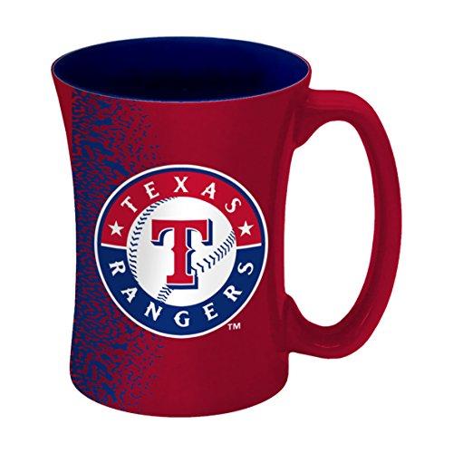 Mug Rangers Coffee (MLB Texas Rangers Sculpted Mocha Mug, 14-ounce)