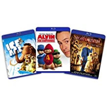 Blu-ray Kids and Family Bundle (Ice Age / Alvin and the Chipmunks /Night at the Museum) -