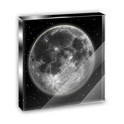 (Full Moon Acrylic Office Mini Desk Plaque Ornament Paperweight)