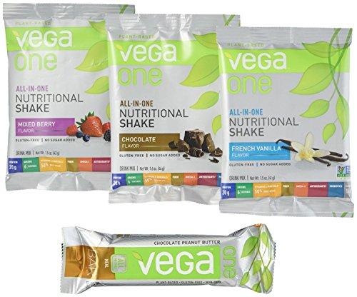 Vega One All-In-One Protein Powder & Vega One Bar Variety Pa...