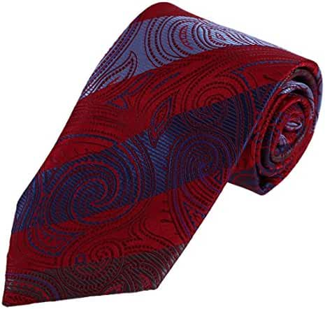 DAA7B16-18 Designer Paisley Ties for Men Microfiber Evening Neck Tie By Dan Smith