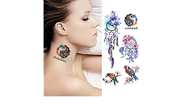 ljmljm 6pcs Tatuaje Impermeable Etiqueta engomada Notas Musicales ...