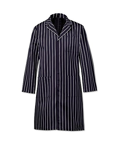 Alexandra Workwear Unisex Butcher'S Stripe Coat Navy/White S