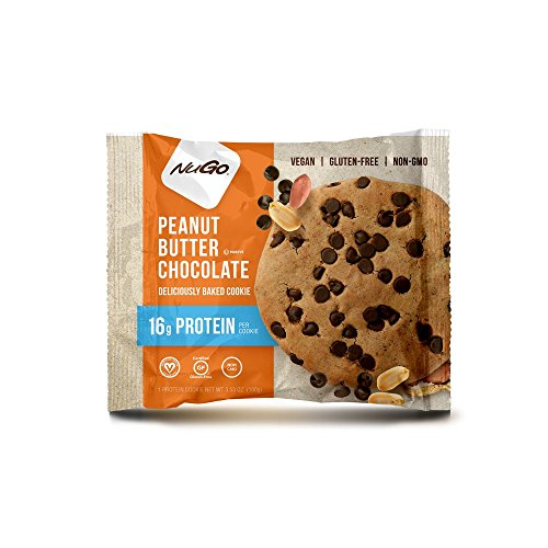 NuGo Gluten Free Protein Cookie, Peanut Butter Chocolate, 12 Count