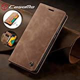 Compatible with Samsung Galaxy A70 (2019) Wallet Case Cover, Magnetic Stand View Premium Cowhide Leather Flip Cover Purse Book Style with ID & Credit Card Slots Pockets for Samsung Galaxy A70(2019) SLHYA