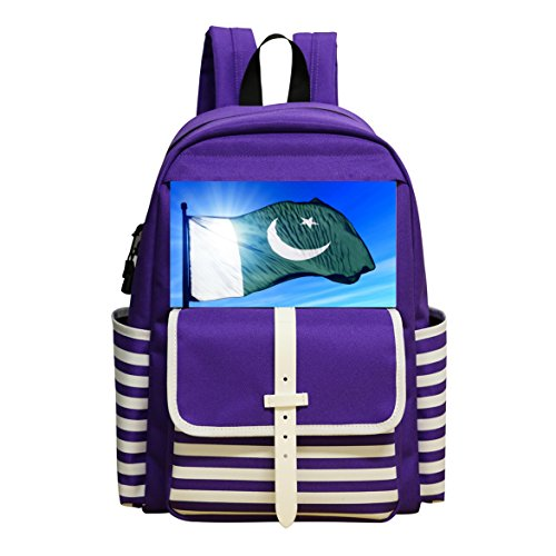 Cool Beautiful-Pakistani-Flag- Fashion School Bag Backpack for Boys and - Pakistani Boys Picture