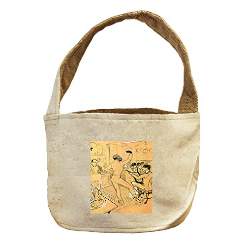 Style in Print Chocolat Dance (Toulouse Lautrec) Canvas and Burlap Storage Basket Basket by Style in Print (Image #1)
